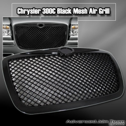 05 06 07 CHRYSLER 300C MESH AIR GRILLE BLACK