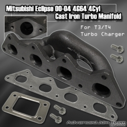 00 01 02 03 04 05 MITSUBISHI ECLIPSE 4G64 3RD GEN L4 ENGINES T3/T4 TURBO CONVERSION MANIFOLD
