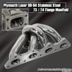 89 91 92 93 94 PLYMOUTH LASER TURBO STAINLESS STEEL T3/T4 TURBO MANIFOLD
