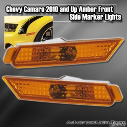 CHEVY CAMARO 2010 AND UP FRONT SIDE MARKER AMBER