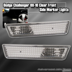 DODGE CHALLENGER 08 09 10 AND UP FRONT SIDE MARKER CLEAR