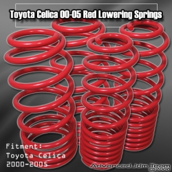 00 01 02 03 04 05 TOYOTA CELICA LOWERING SPRINGS Red