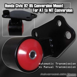 HONDA CIVIC 92 93 94 95 EG / HONDA DEL SOL EG2 AUTOMATIC TO 5 SPEED MANUAL TRANSMISSION SWAP / CONVERSION MOUNT