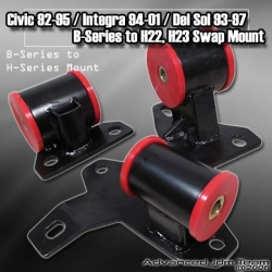 H22 / H23 ENGINE SWAP MOTOR MOUNT 94 95 96 97 98 99 00 01 ACURA INTEGRA / 92 93-95 CIVIC / 93-97 DEL SOL
