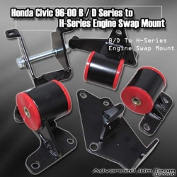 96 97 98 99 00 HONDA CIVIC H22 & F-SERIES MOTOR SWAP MOUNTS