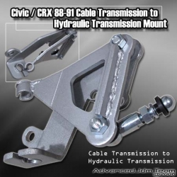 88 89 90 91 CIVIC / CRX / 90 91 92 93 INTEGRA CABLE TRANSMISSION TO HYDRAULIC / HYDRO ACTUATOR TRANSMISSION MOUNT BRACKET