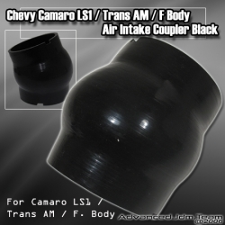 CHEVY CAMARO LS1 / F BODY / TRANS AM SMOOTH BELLOW INTAKE COUPLER BLACK