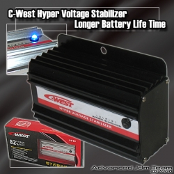 JDM C-WEST HYPER VOLTAGE STABILIZER BLACK