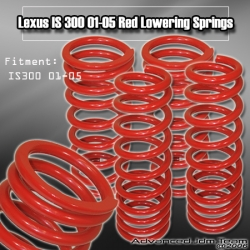01 02 03 04 05 LEXUS IS300 LOWERING SPRINGS Red